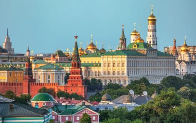 View of the Kremlin in Moscow, Russia,